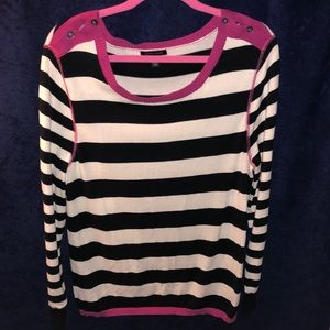 Tommy Hilfiger Black and White Stripe Sweater